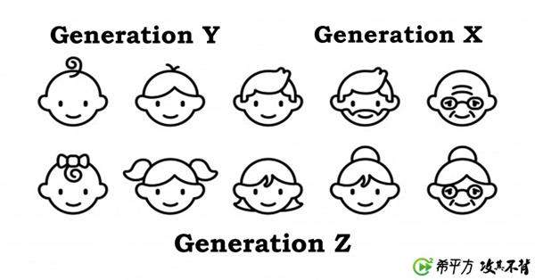 新聞常常讀到的 Generation X、Generation Y 是什麼意思呢?